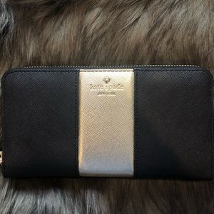 KATE SPADE WALLET black and gold NEW condition